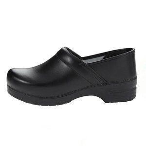 Dansko Black Leather Professional Comfort Clogs